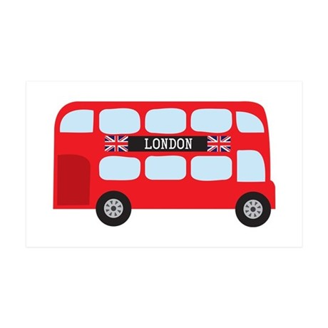 London Double-Decker Bus 35x21 Wall Decal