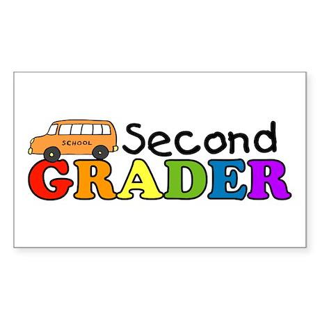 Second Grader Rectangle Sticker
