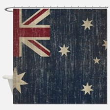 Vintage Australia Flag Shower Curtain