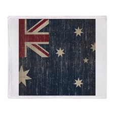 Vintage Australia Flag Throw Blanket