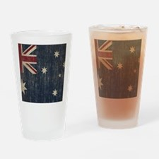 Vintage Australia Flag Drinking Glass