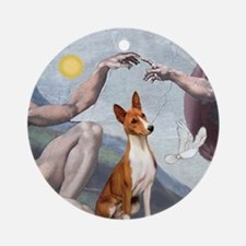 Creation - with a Basenji Ornament (Round)