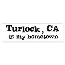 Turlock - hometown Bumper Bumper Sticker
