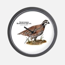 Northern Bobwhite Quail Wall Clock