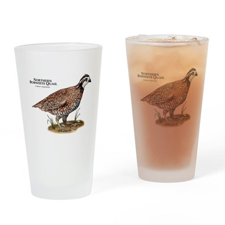 Northern Bobwhite Quail Drinking Glass