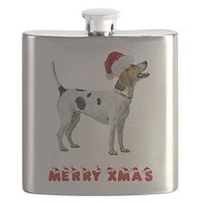 Foxhound Christmas Flask