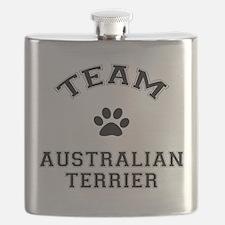 Team Australian Terrier Flask