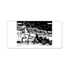 AFTM BW Arabian Horse Driving Aluminum License Pla