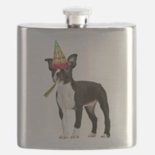 Boston Terrier Birthday Flask