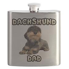 Wirehaired Dachshund Dad Flask