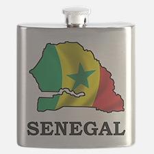 Map Of Senegal Flask