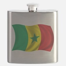 Wavy Senegal Flag Flask