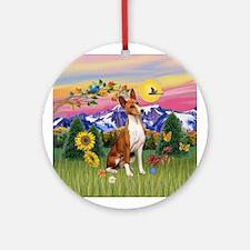 Mountain Country Basenji Ornament (Round)