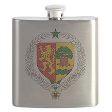 Senegal Coat Of Arms Flask