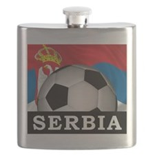 Football Serbia Flask