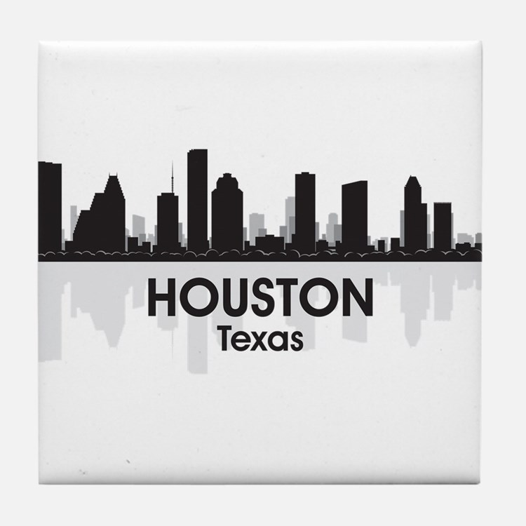 Houston Skyline Tile Coaster