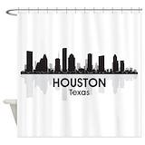 Houston skyline Shower Curtains