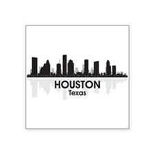 "Houston Skyline Square Sticker 3"" x 3"""