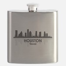 Houston Skyline Flask