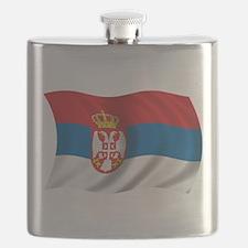 Wavy Serbia Flag Flask
