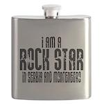 Rock Star In Serbia Flask