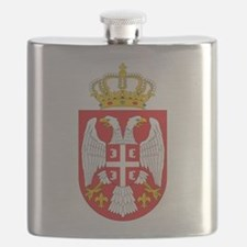 Serbia Coat Of Arms Flask