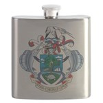 Seychelles Coat Of Arms Flask