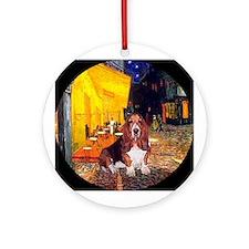 Cafe - Basset Hound Ornament (Round)