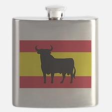 Spain Bull Flag Flask