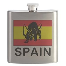 Spain Running Of The Bulls Flask