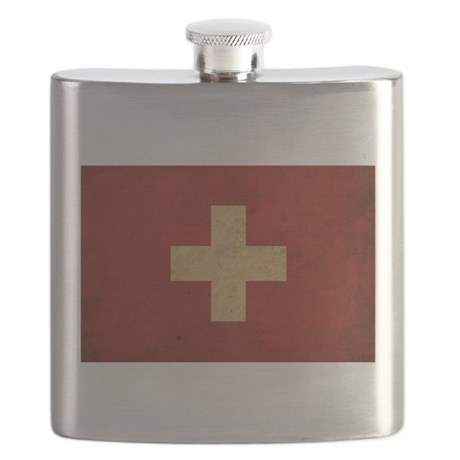 Vintage Switzerland Flag Flask
