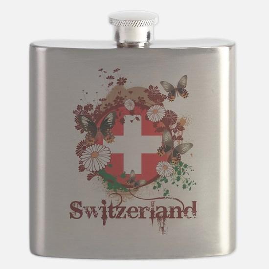 Butterfly Switzerland Flask