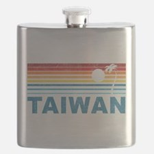 Retro Palm Tree Taiwan Flask