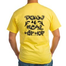 hip-hop clothing : DOWN FOR REAL HIP-HOP SHIRT..