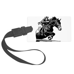 AFTM BW Jumping Horse Luggage Tag