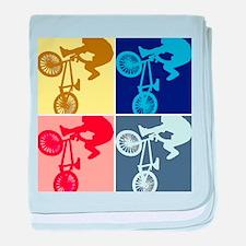 BMX Bike Rider/Pop Art baby blanket