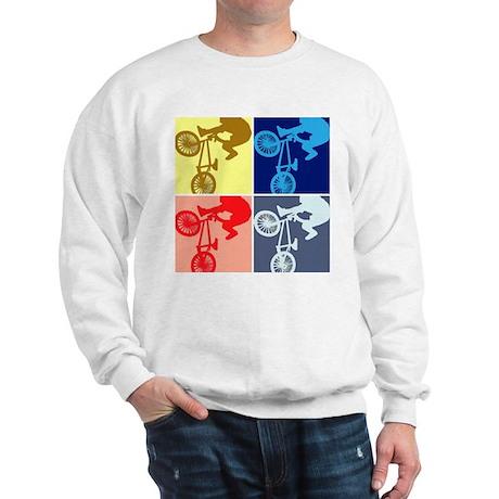 BMX Bike Rider/Pop Art Sweatshirt