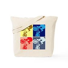 BMX Bike Rider/Pop Art Tote Bag
