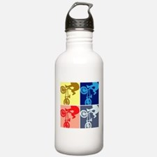 BMX Bike Rider/Pop Art Water Bottle