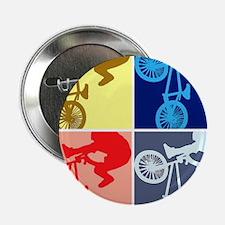 """BMX Bike Rider/Pop Art 2.25"""" Button"""