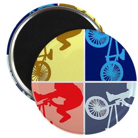 """BMX Bike Rider/Pop Art 2.25"""" Magnet (10 pack)"""