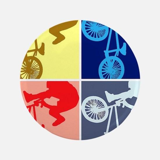 """BMX Bike Rider/Pop Art 3.5"""" Button"""