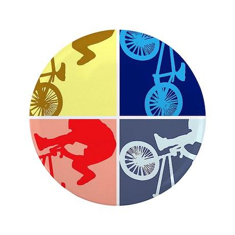"""BMX Bike Rider/Pop Art 3.5"""" Button (100 pack)"""