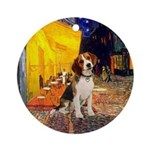 Cafe - Beagle Ornament (Round)