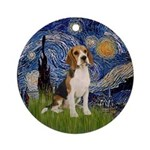 Starry Night - Beagle Ornament (Round)
