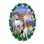 Magical Night & Beagle Ornament (Oval)