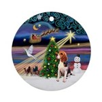 XmasMagic - Beagle Ornament (Round)