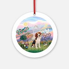 CloudAngel2 - Beagle Ornament (Round)