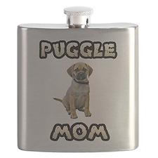 Puggle Mom Flask