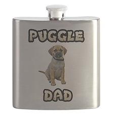 Puggle Dad Flask